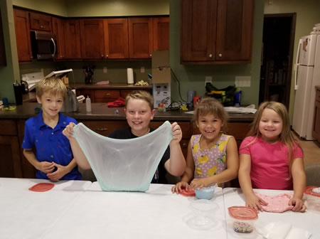 Bridgeway kids enjoying doing crafts together.