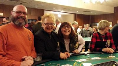 Blackjack players at Casino Night